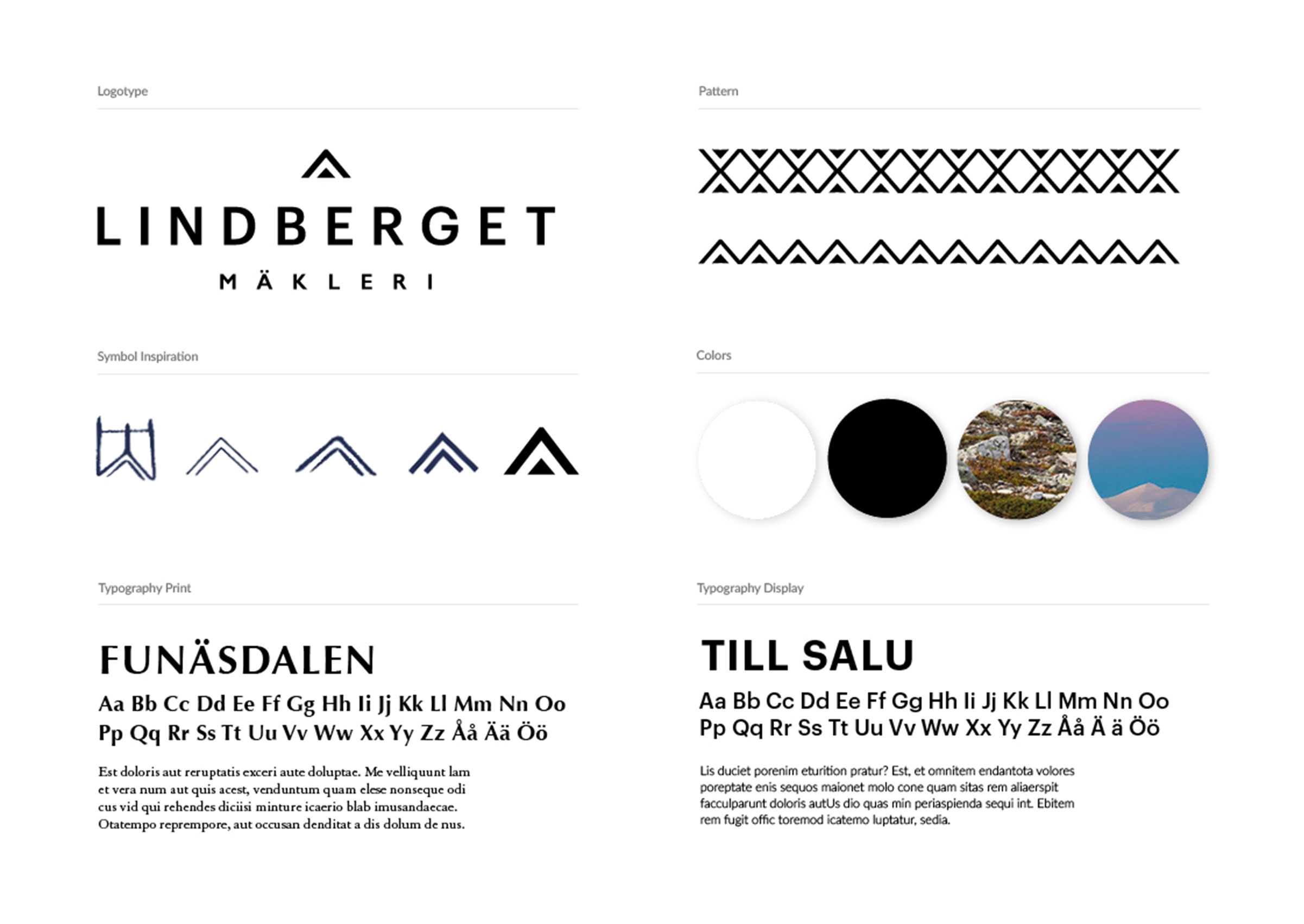 Lindberget, visuall guidelines