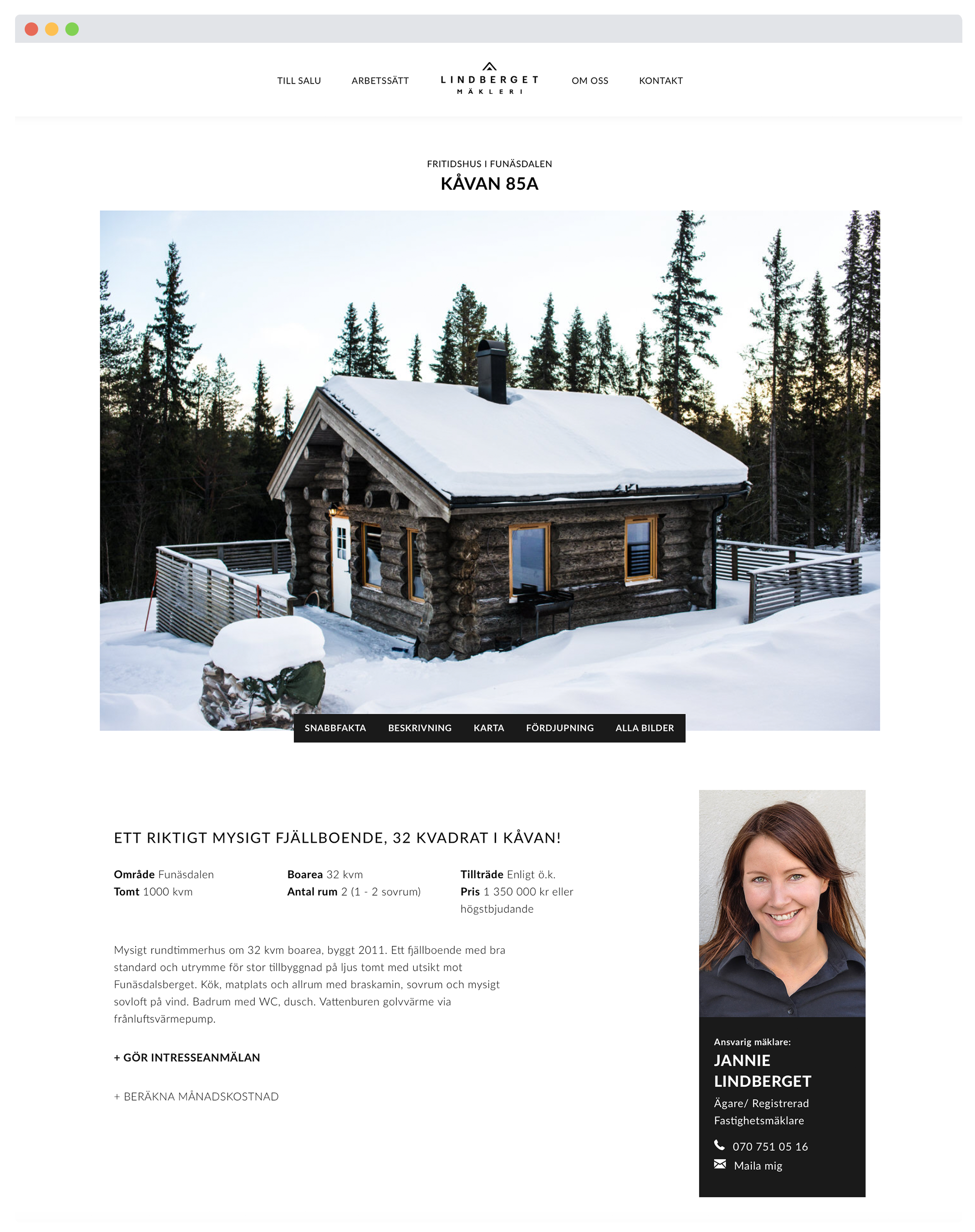 Lindberget, Website